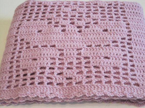 Crochet, Baby Blanket, Baby Afghan, Baby Girl, Baby Shower ...