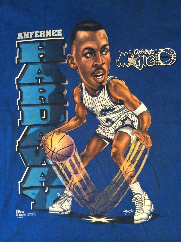 f4e995accb0 Vintage Penny Hardaway Orlando Magic Caricature T-Shirt Pro Player XXL NBA  90s