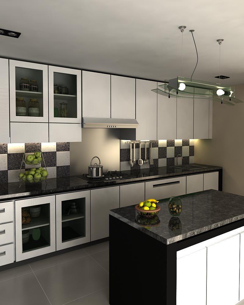 Black And White Kitchen Set