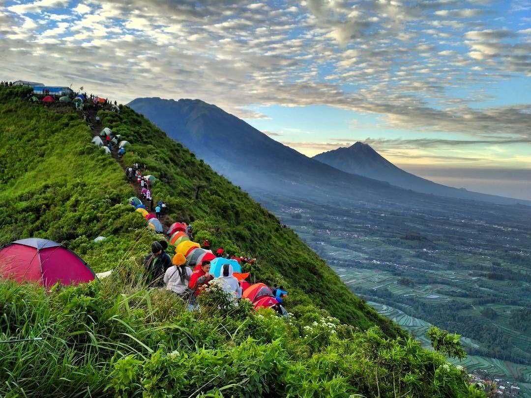 Gunung Andong Pemandangan Tenda Andong
