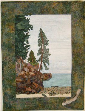 Cliff at Lake Superior - Media - Quilting Daily | AbSoand quilts ... : quilting daily - Adamdwight.com