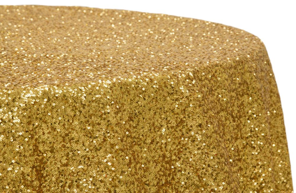 Glitz Sequins 120 Round Tablecloth Gold As Low 59 99