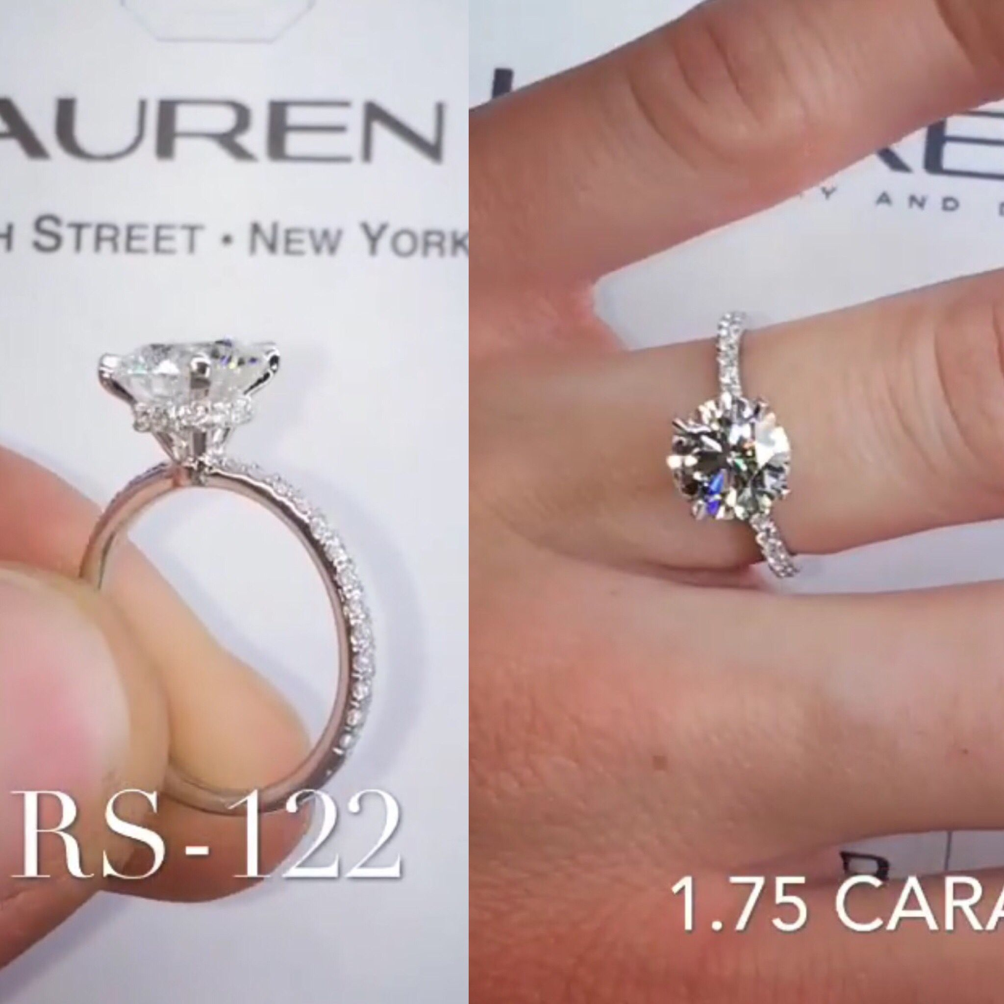 Laurenbjewelry 1 75 Carat Round Micropave Wrap Design Micro Pave Engagement Rings Round Engagement Rings Antique Engagement Rings