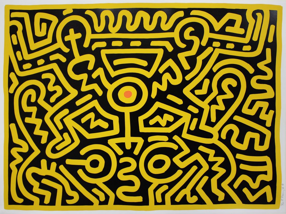 Keith Haring, Growing 4 (1988).Photo: Courtesy of private ...