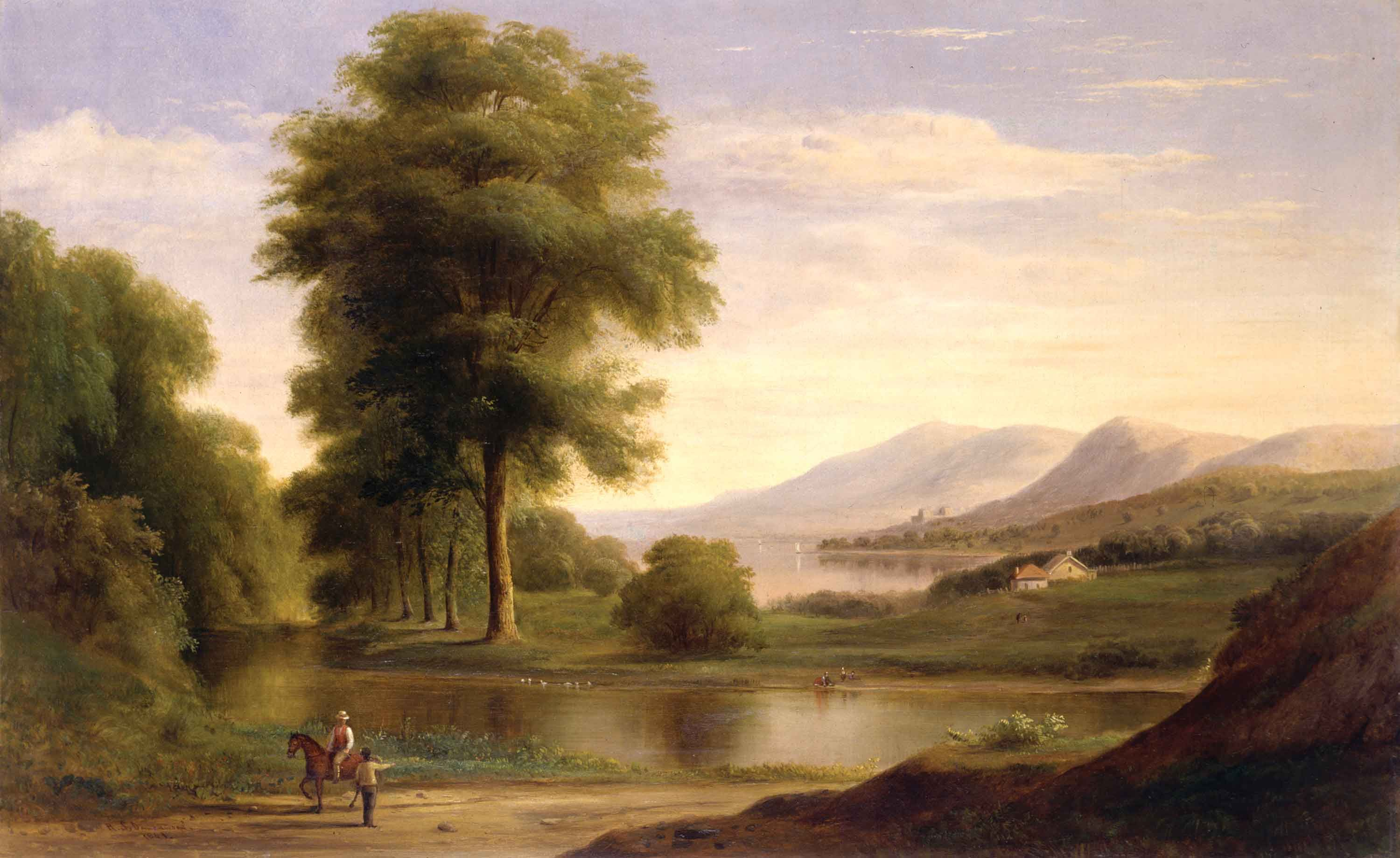 Hudson River Valley style art, untitled, by:  Robert s. Duncanson