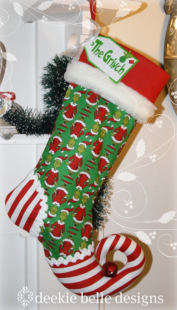 Grinch Jingle Sox OMG Christmas DIY Pinterest Navidad