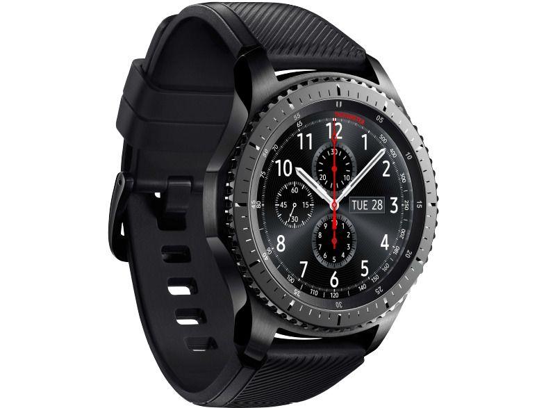 Samsung Gear S3 Frontier Aktion Smartwatch Silikon 22 Mm Space Gray Neu Ovp Smartwatch Samsung Bluetooth