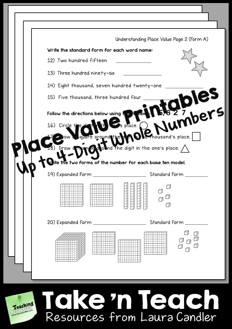 Place Value Worksheets 3rd Grade