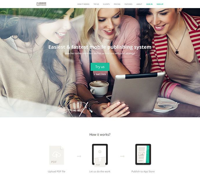 IssueStand landing page v2.