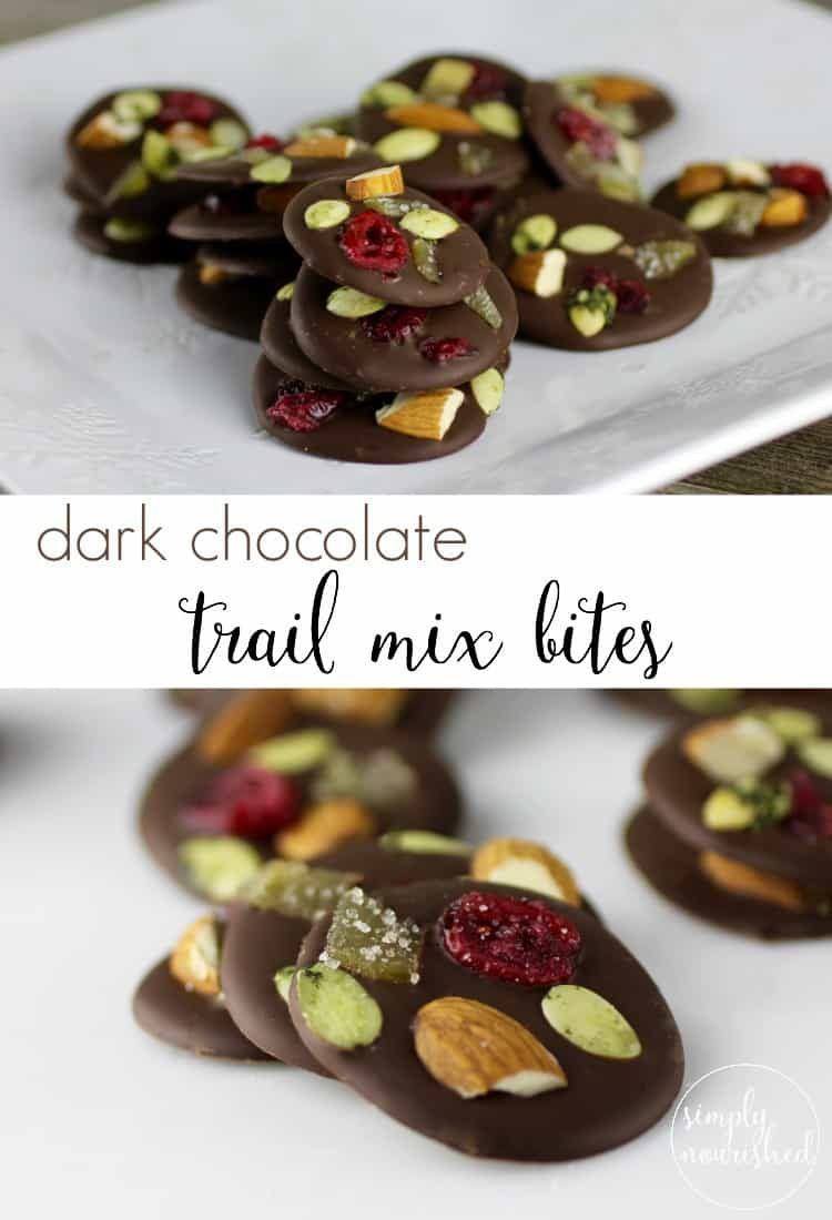 Dark Chocolate Trail Mix Bites