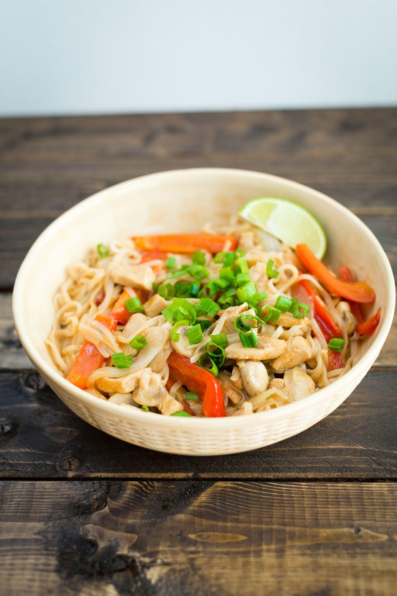 Healthy chicken pad thai recipe healthy thai recipes