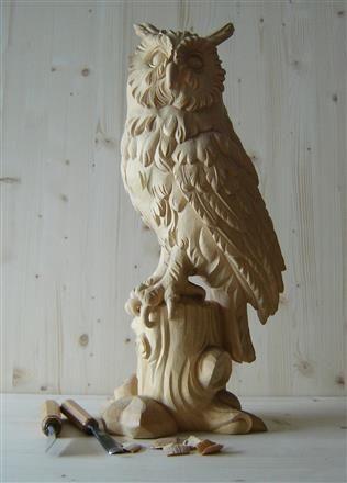 Wooden owl #sculpture