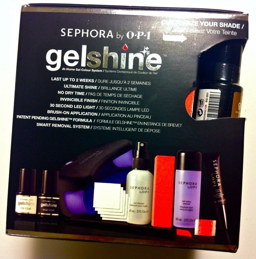 Sephora By OPI Gelshine At Home Gel Color System Tutorial
