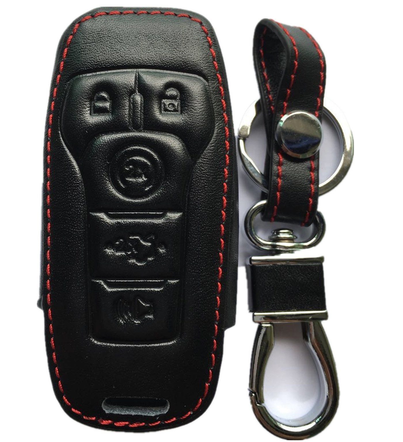 Rpkey Leather Keyless Entry Remote Control Key Fob Cover Case