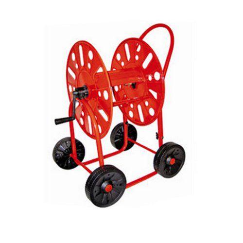 """Unser Schlauchwagen mit 4 Rädern 3/4 Zoll für 90 m. Gerade bei einem großen Garten oder auch im Bereich das Garten- und Landschaftsbaues ist ein Schlauchwagen 3/4 Zoll eine wirkliche Arbeitserleichterung. Der Gartenschlauch kann bequem an den Platz gefahren werden, wo er benötigt wird, ohne Anstrengendes und lästigen ziehen.  Pulverbeschichtet um die maximale Robustheit zu garantieren leichtes Auf - und Abrollen Ausgestattet mit 2 Messing-Schlauchanschlüssen 3/4"""" Durchfluss sehr gute…"""