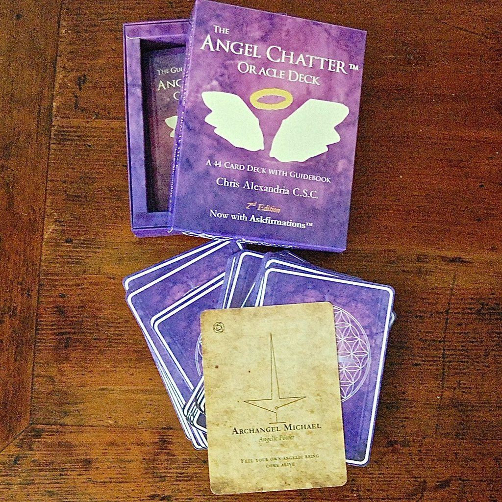 Angel chatter oracle cards with angelic frequencies deck