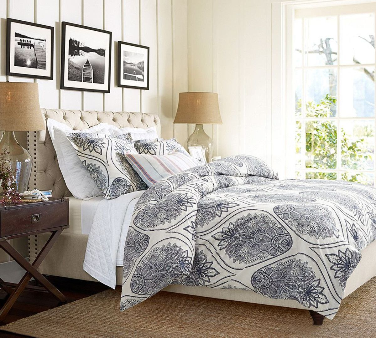 Pottery Barn Upholstered Headboard With Gorgeous Designs ...