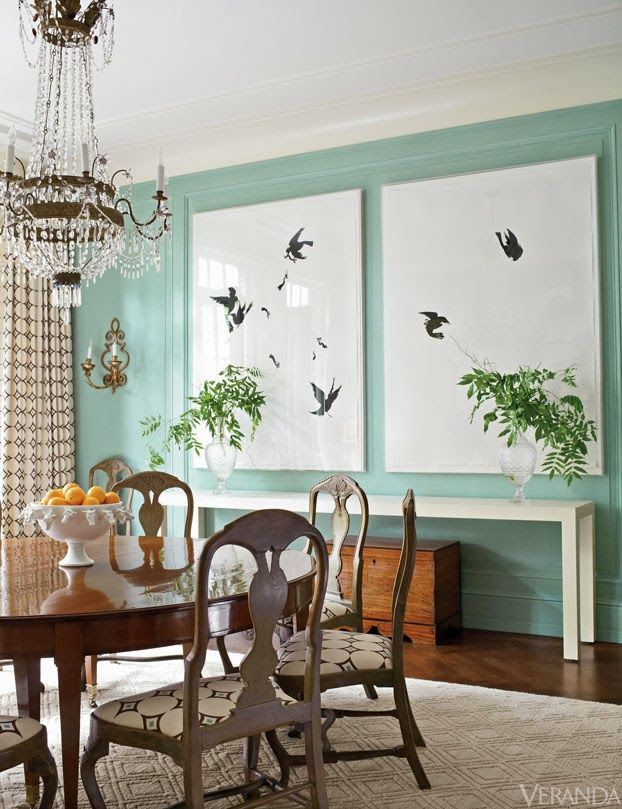 If Youu0027re Going To Have A Tiffany Box Blue Dining Room,