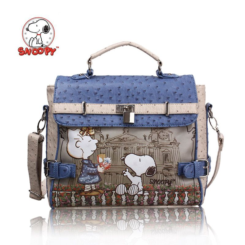1a9b82a9cd hot sales 2014 new fashion snoopy women s handbags messenger bags famous  brand   Genuine leather bags free shipping s7031-29 US  38.80