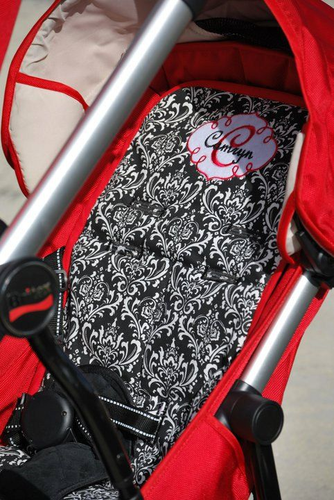 Personalized Reversible Stroller Pad Liner Britax-B Ready - - back seat - - - Made to Order - - - & Personalized Reversible Stroller Pad Liner Britax-B Ready - - back ...