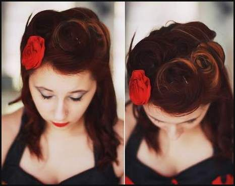 Rockabilly Frisuren Kurze Haare Frauen Rockabilly Pinterest