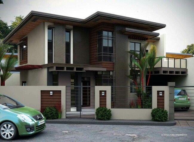 2 Storey House With Balcony Architect House Building Design