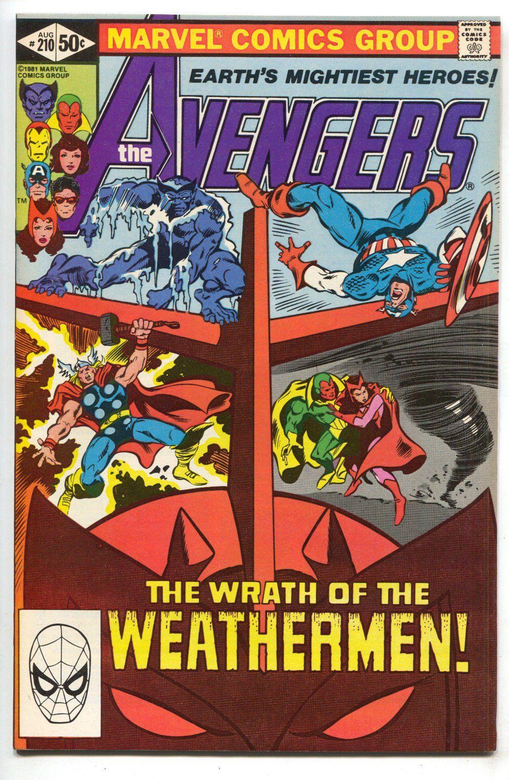 Avengers 210 marvel 1981 nm captain america iron man