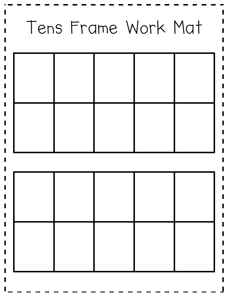 Help your students organize their manipulatives or drawings into – Ten Frame Worksheets
