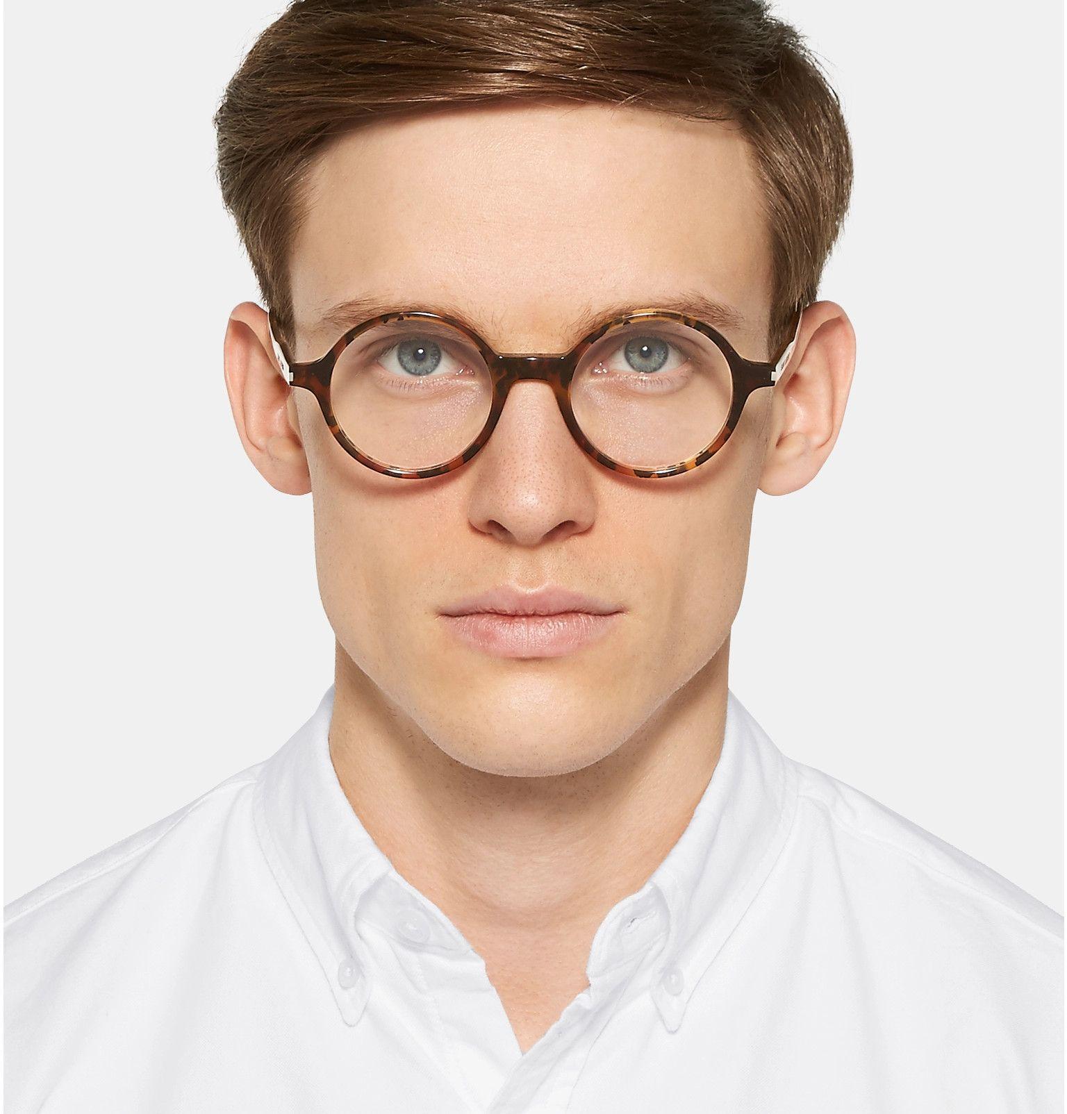 1f88a1fc49 Saint Laurent - Round-Frame Tortoiseshell Acetate Optical Glasses ...