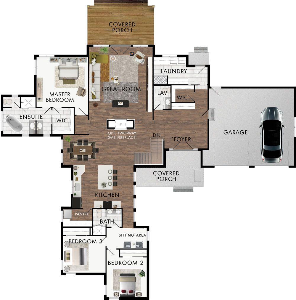 Monterra Floor Plan | midsize | Pinterest | House