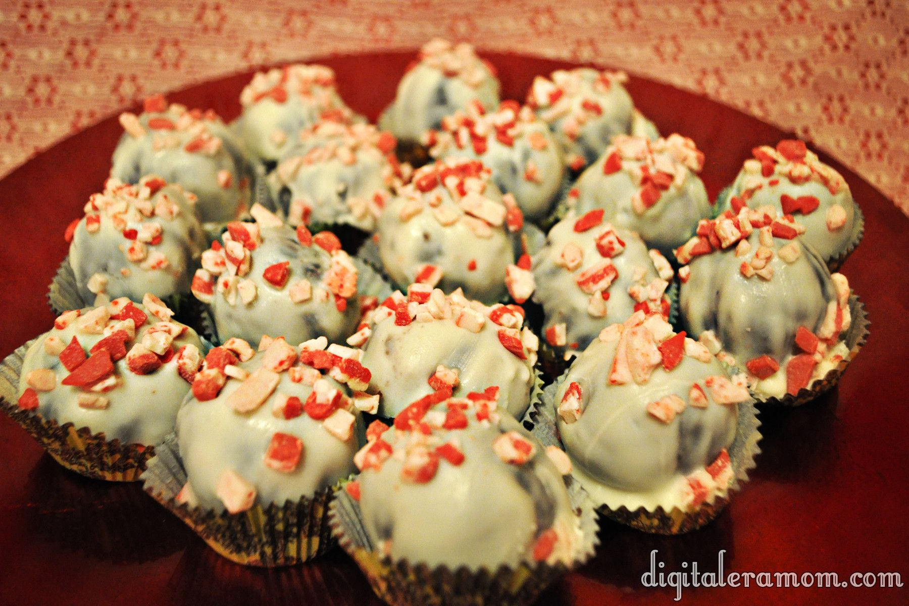 (Almost) Starbucks Peppermint Brownie Cake Balls - Mama Plus One