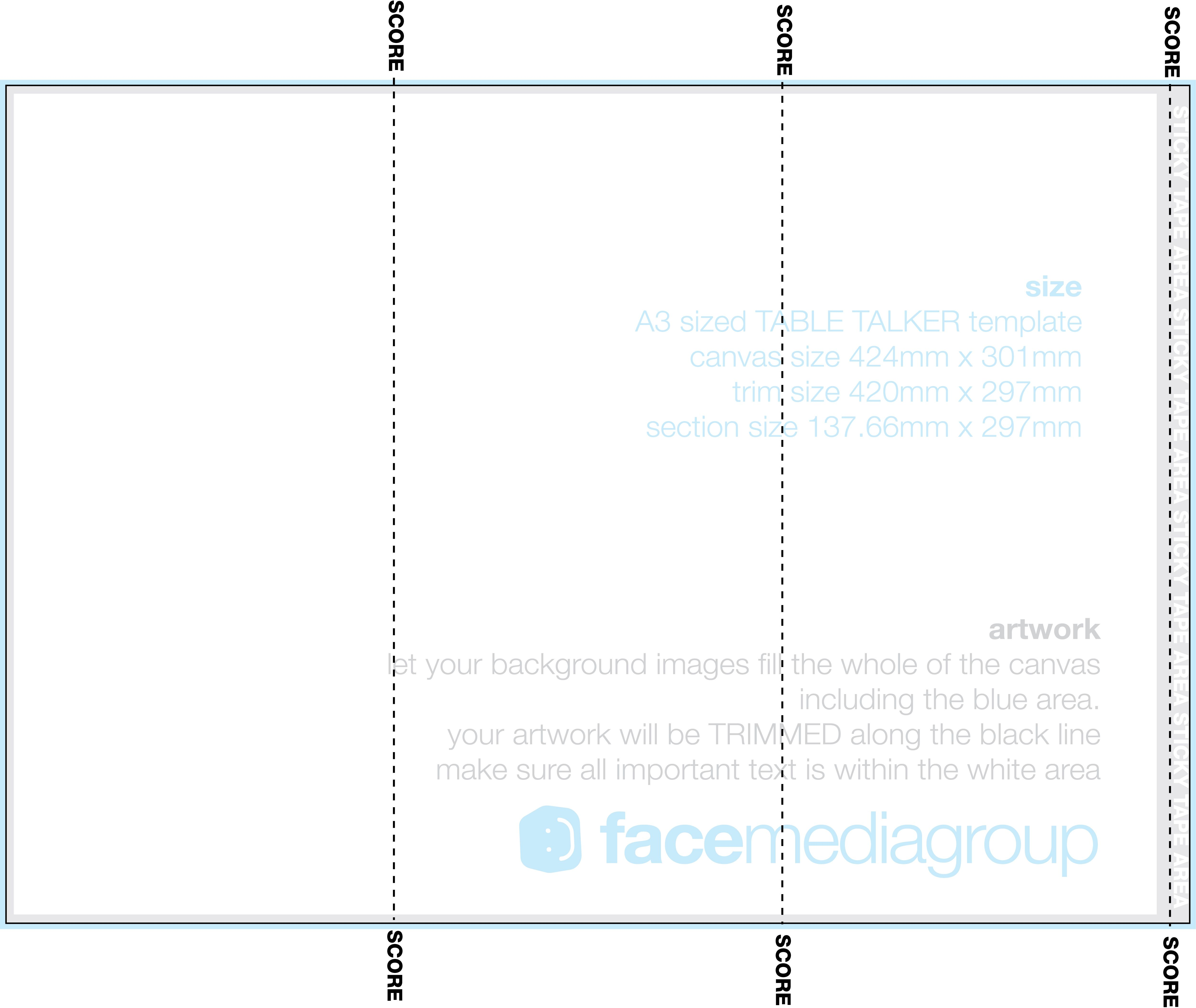 Three Sided Table Tent Template