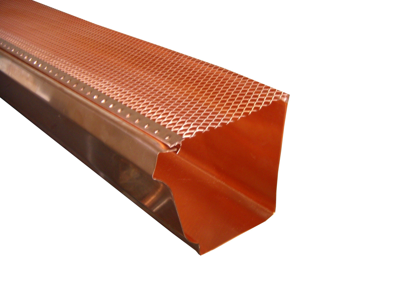 Copper Gutter Leaf Guard Screen Gutter Screens Copper Gutters Gutter Leaf Guard