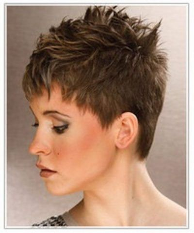 Brilliant Short Spiky Womens Hairstyles Intended For Found