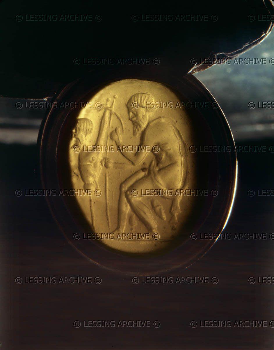 Prometheus. Carneol gem (1st half 3rd BCE).   Kunsthistorisches Museum, Muenzkabinett, Vienna, Austria      Kunsthistorisches Museum, Muenzkabinett,...