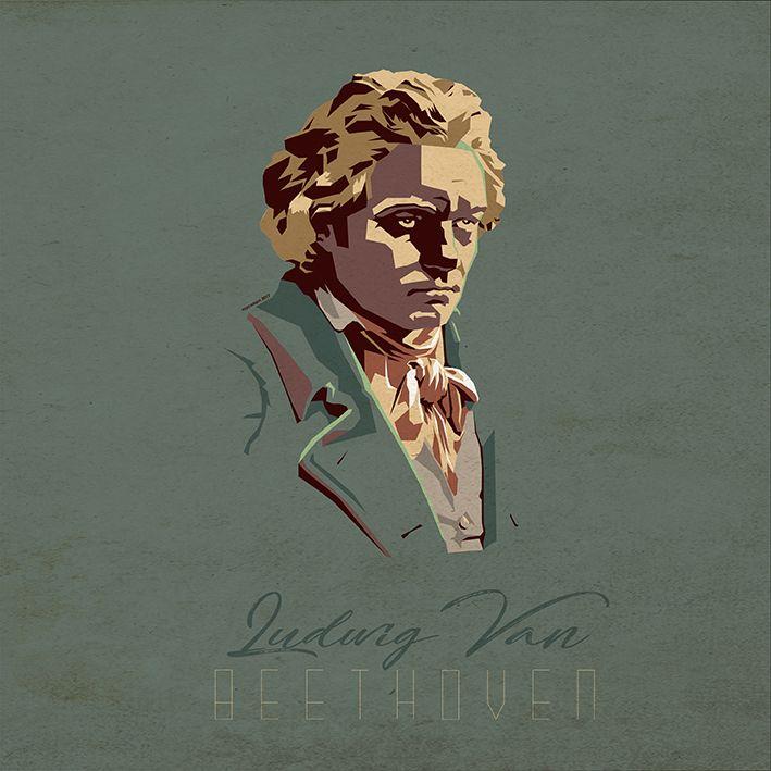 Ludwig Van Beethoven vector by macadam