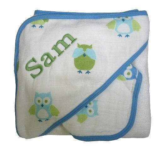 Namely newborns angel dear boy owl towel personalized muslin namely newborns angel dear boy owl towel personalized muslin baby gift 3195 negle Images