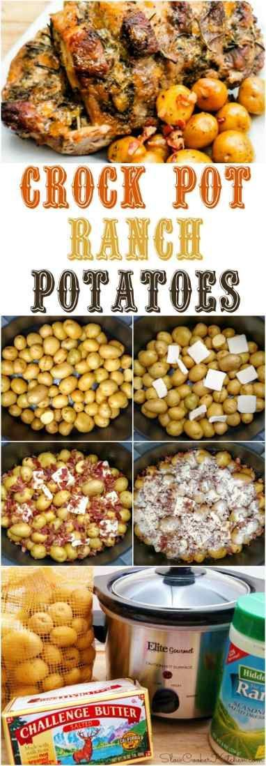 Crock Pot Bacon Ranch Potatoes | SlowCookerKitchen.com