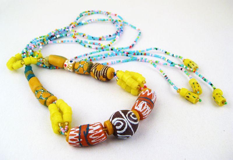 Traditional Ghana Clay Beads Set