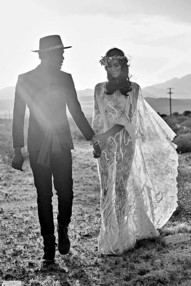 Photo of In Nicole Trunfio's California Coachella wedding