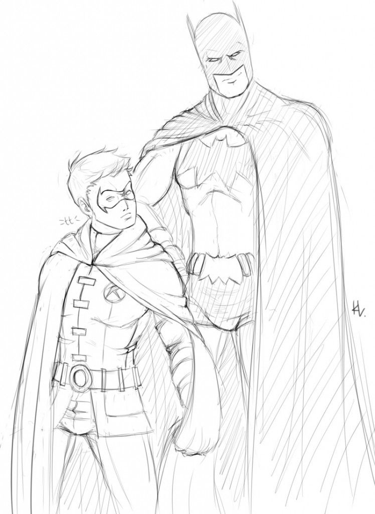 batman and robin coloring pages - Batman And Robin Coloring Pages