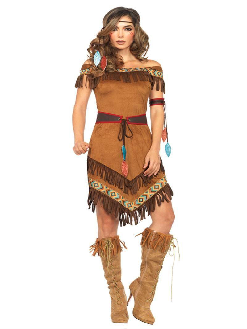 native princess pocahontas adult halloween costume leg avenue 85398 new 2015 2016 costumes. Black Bedroom Furniture Sets. Home Design Ideas