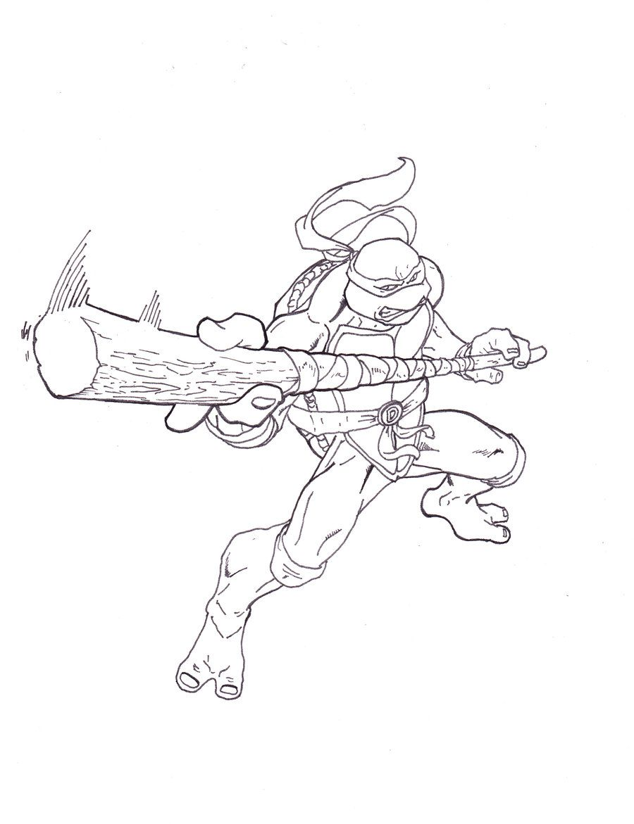 TMNT Donatello by ShinMusashi44 | LineArt: TMNT ...