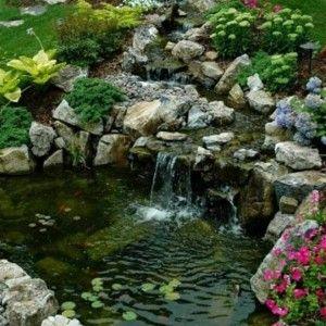 Small Waterfalls Backyard Ponds , Relaxing Waterfalls Backyard Ponds In  Landscaping And Outdoor Building Category