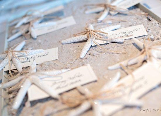 Starfish Place Cards Diy Beach Wedding Ideas On A Budget Diy