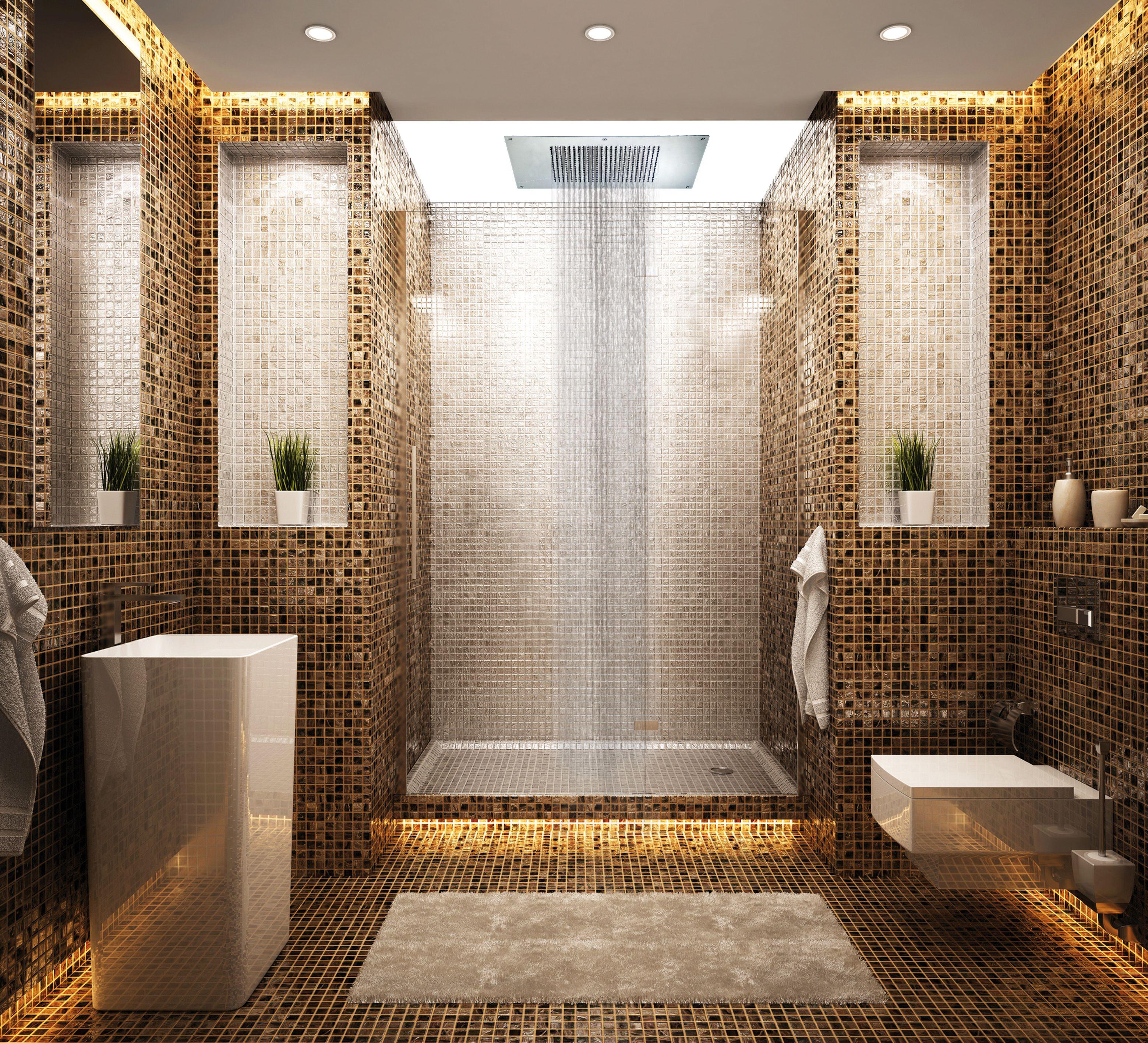 Average Labor Cost For Bathroom Remodel: Recessed Rainhead. Aquabrass. #Rainhead #bathroom #Design