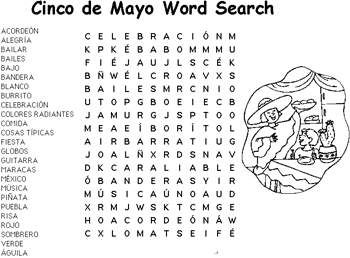 Free Printable Activities Cinco De Mayo Word Search Kids Coloring Pages And Word Puzzles Kaboose Com
