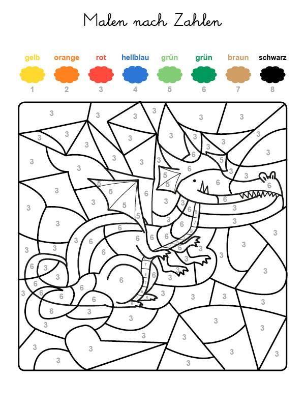 Malen Nach Zahlen Zum Ausdrucken Für Kinder