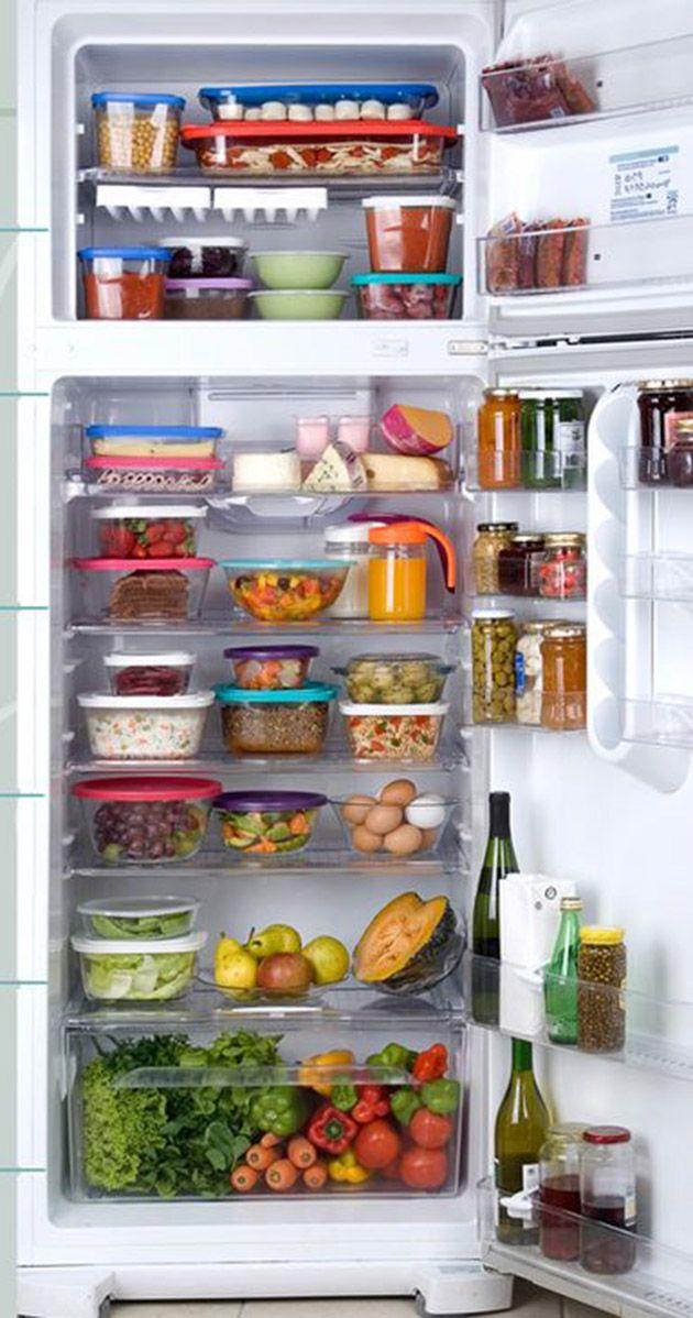 como organizar a geladeira e armazenar os alimentos fitness pinterest k hlschrank. Black Bedroom Furniture Sets. Home Design Ideas