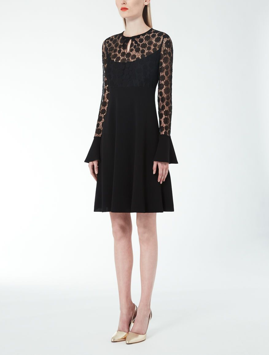 5e54596c5 Max Mara SALA black: Cady and lace dress. | Kate Designers/Brands in ...
